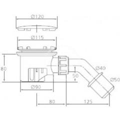 Ideal Standard Odpadová souprava Tempoplex, chrom K7817AA
