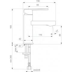 Ideal Standard Umyvadlová baterie, chrom B0600AA