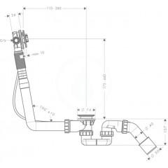 Hansgrohe Vanová odtoková a přepadová souprava s napouštěním 58115180