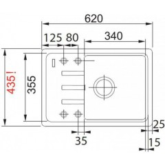 Franke Fragranitový dřez BSG 611-62, 620 x 435 mm, onyx 114.0395.129