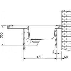 Franke Tectonitový dřez OID 611-62, 620 x 500 mm, vulcan 114.0395.181
