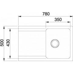 Franke Tectonitový dřez OID 611-78, 780 x 500 mm, šedá 114.0395.184