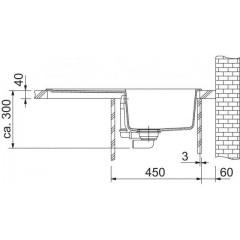 Franke Tectonitový dřez OID 611-78, 780 x 500 mm, vulcan 114.0395.185