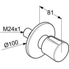 Kludi Třícestný ventil pod omítku, chrom 528460575