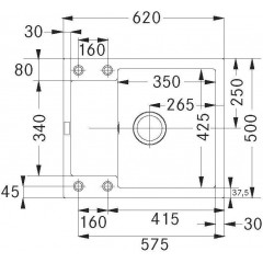 Franke Kuchyňský set G100, granitový dřez MRG 611-62, šedý kámen + baterie FG 7486.031, chrom 114.0439.468