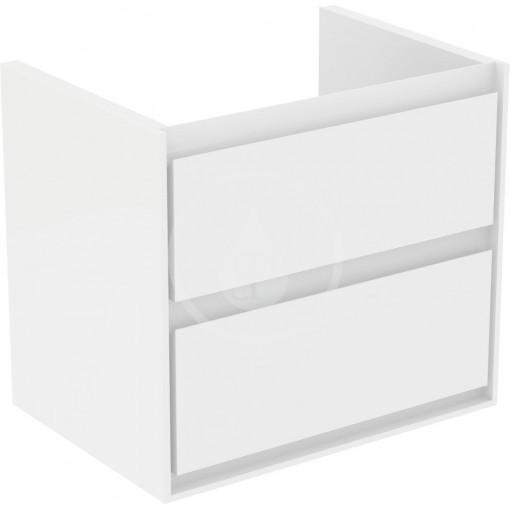 Ideal Standard Skříňka pod umyvadlo CUBE 650 mm, lesklý bílý/matný bílý lak E1605B2