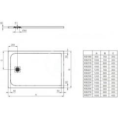 Ideal Standard Sprchová vanička 1200 x 1000 mm, černá K8232FV