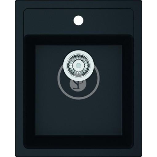 Franke Tectonitový dřez SID 610-40, 430x530 mm, černá 114.0503.041