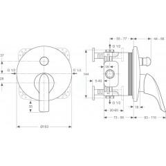 Ideal Standard Vanová baterie pod omítku, chrom A4712AA