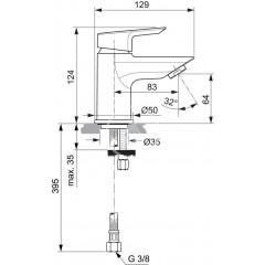 Ideal Standard Umyvadlová baterie Piccolo, chrom A6568AA
