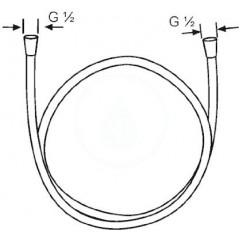 Kludi Sprchová hadice SUPARAFLEX SILVER, 1250 mm, chrom 6107105-00
