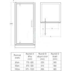 Ideal Standard Sprchové dveře 900 mm, lesklá stříbrná/čiré sklo L6362EO
