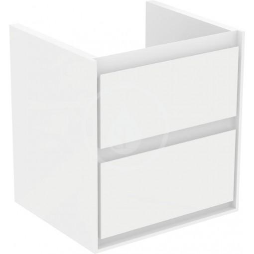 Ideal Standard Skříňka pod umyvadlo CUBE 550 mm, lesklý bílý/matný bílý lak E1607B2