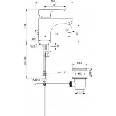 Ideal Standard Umyvadlová baterie Grande s odtokovou soupravou, 5l/min, chrom B0773AA