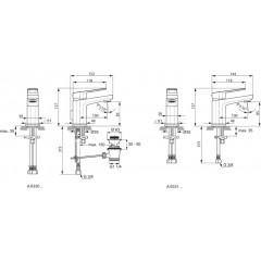 Ideal Standard Umyvadlová baterie Piccolo s odtokovou soupravou, chrom A6330AA