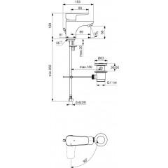 Ideal Standard Umyvadlová baterie s výpustí, BlueStart, chrom B0767AA