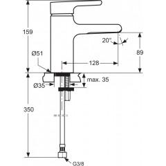 Ideal Standard Umyvadlová baterie s vodopádovým perlátorem, chrom A4599AA