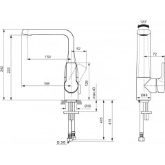 Ideal Standard Umyvadlová baterie, s otočným výtokem, chrom A6044AA