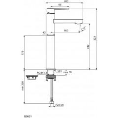 Ideal Standard Umyvadlová baterie, chrom B0601AA