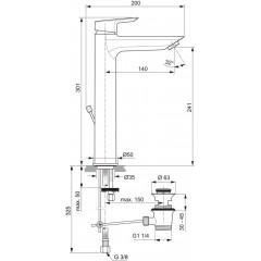 Ideal Standard Umyvadlová baterie s odtokovou soupravou, chrom A6573AA