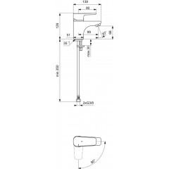 Ideal Standard Umyvadlová baterie, BlueStart, chrom B0768AA