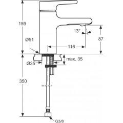 Ideal Standard Umyvadlová baterie, chrom A4595AA