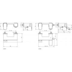 Ideal Standard Vanová baterie, chrom A6338AA