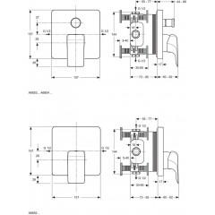 Ideal Standard Vanová baterie pod omítku, chrom A6853AA