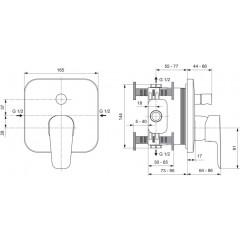 Ideal Standard Vanová baterie pod omítku, chrom A6115AA