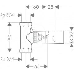 Hansgrohe Základní těleso pro uzavírací ventil pod omítku DN 20 15970180