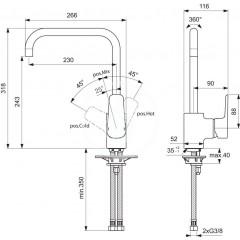 Ideal Standard Dřezová baterie, chrom B0725AA