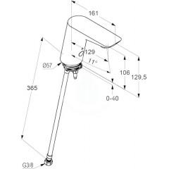 Kludi Elektronický stojánkový ventil, chrom 5210505