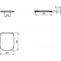 Ideal Standard WC ultra ploché sedátko softclose, bílá K706501