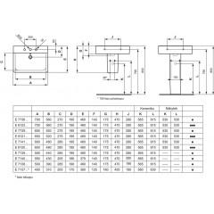 Ideal Standard Umyvadlo Cube, 500x460x175 mm, 1 otvor pro baterii, bílá E713801