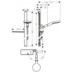 Hansgrohe Sprchová souprava 120, 3 proudy, EcoSmart 9 l/min, sprchová tyč 900 mm, bílá/chrom 27649400