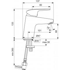 Ideal Standard Umyvadlová baterie, chrom B1710AA