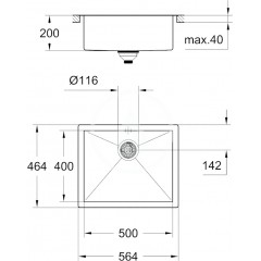 Grohe Dřez K700, 564x464 mm 31579SD0