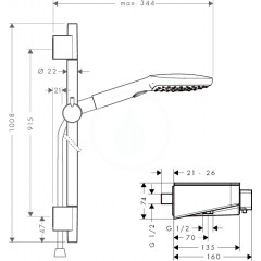 Hansgrohe Sprchový set 120 s termostatem ShowerTablet Select, 3 proudy, chrom 27027000