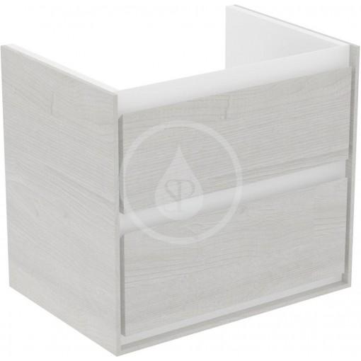 Ideal Standard Skříňka pod umyvadlo CUBE 650 mm, šedý dub/matný bílý lak E1605PS