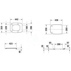 Duravit WC sedátko se sklápěním SoftClose, bílá 0067390000