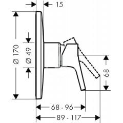 Hansgrohe Páková sprchová baterie Highflow pod omítku, chrom 72607000