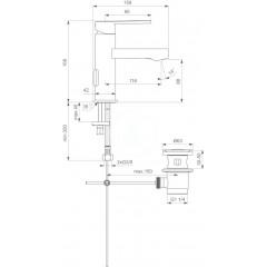 Ideal Standard Umyvadlová baterie s výpustí, chrom B0618AA