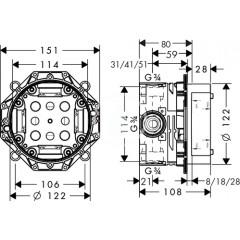 Hansgrohe Základní těleso iBox universal 01800180