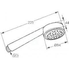 Kludi Sprchová hlavice 84 mm, chrom 6060005-00