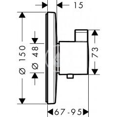 Hansgrohe Termostatická baterie HighFlow pod omítku, chrom 15756000