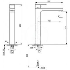 Ideal Standard Baterie pro umyvadlovou mísu, chrom A7114AA