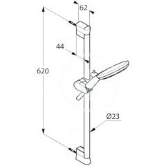 Kludi Sprchová hlavice s hadicí a tyčí 600 mm, 3 proudy, chrom 6793005-00