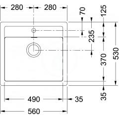 Franke Kuchyňský set T25, tectonitový dřez SID 610, černá + baterie FP 9000, grafit 114.0366.029
