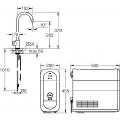 Grohe Dřezový ventil Mono Connected, s chladícím zařízením a filtrací, supersteel 31498DC1