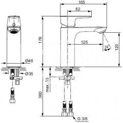 Ideal Standard Umyvadlová baterie Grande, chrom A7055AA